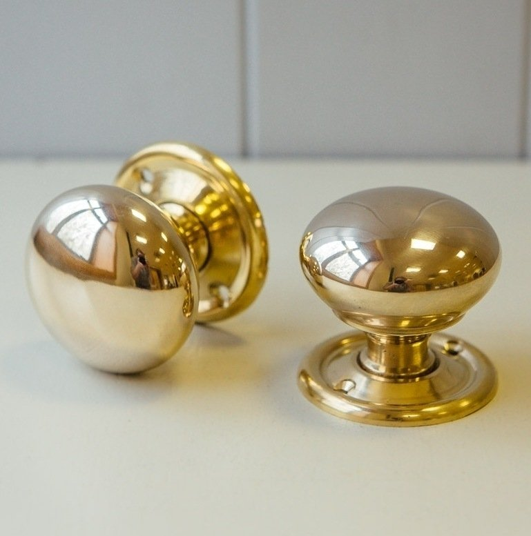 Cottage Door Knobs (Pair) - Brass