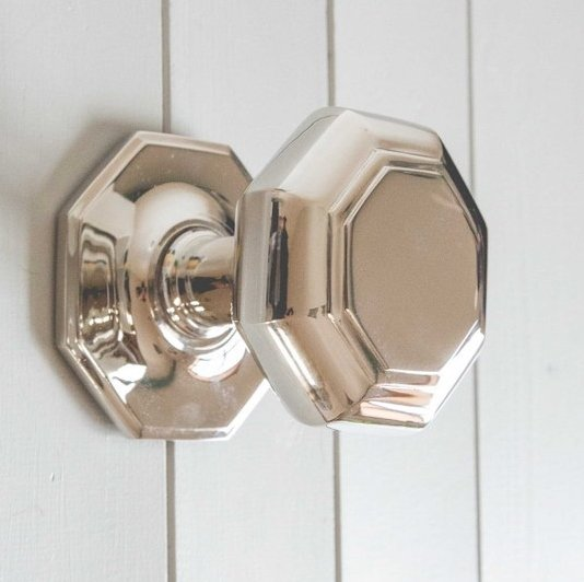 Octagonal Door Pull (Large) -  Nickel