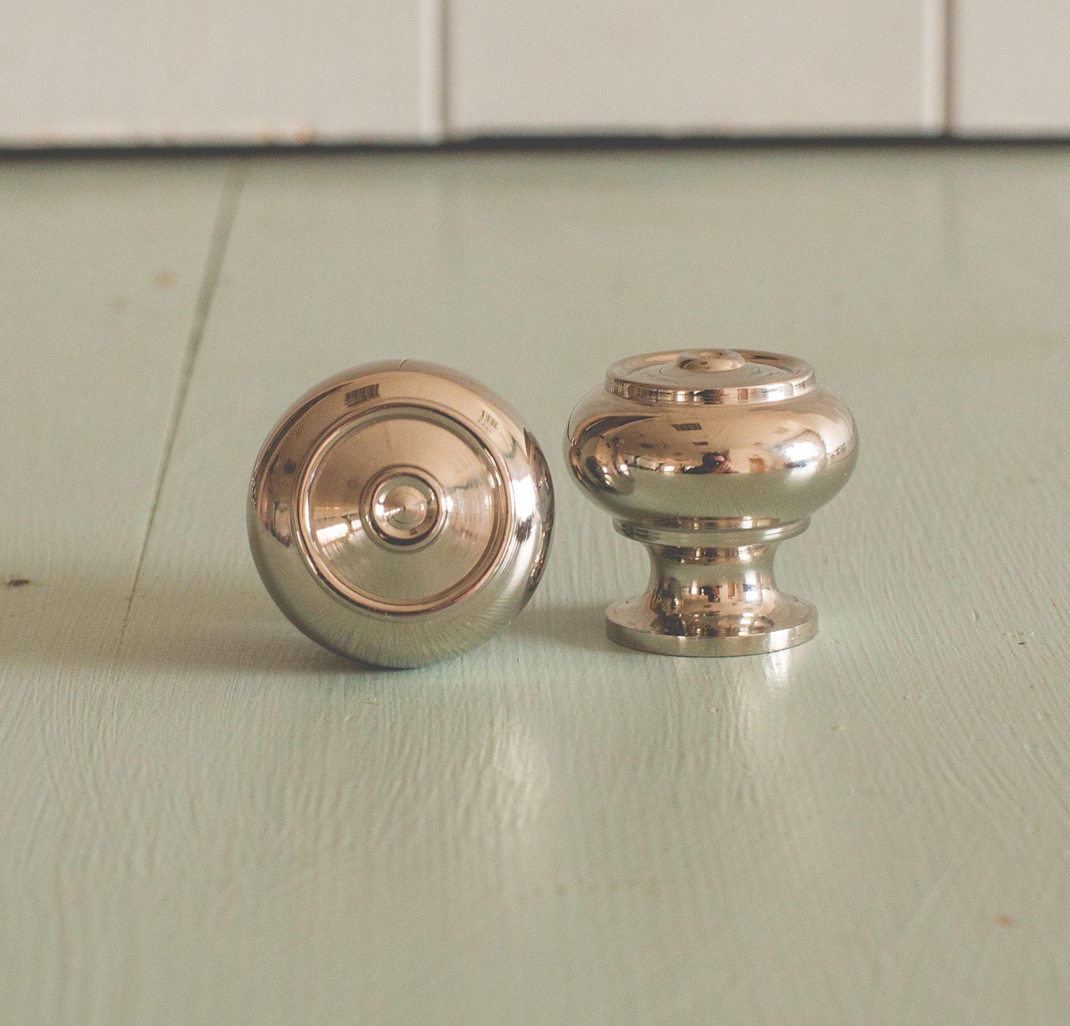Regency-Style Small Cabinet Knob - Nickel