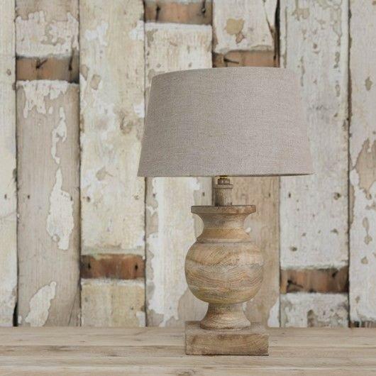 Mango Wood Urn Lamp Base