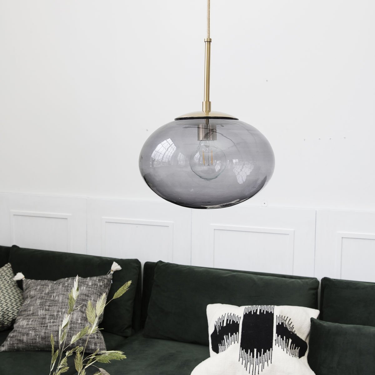 Opal Pendant Light - Grey save 30%