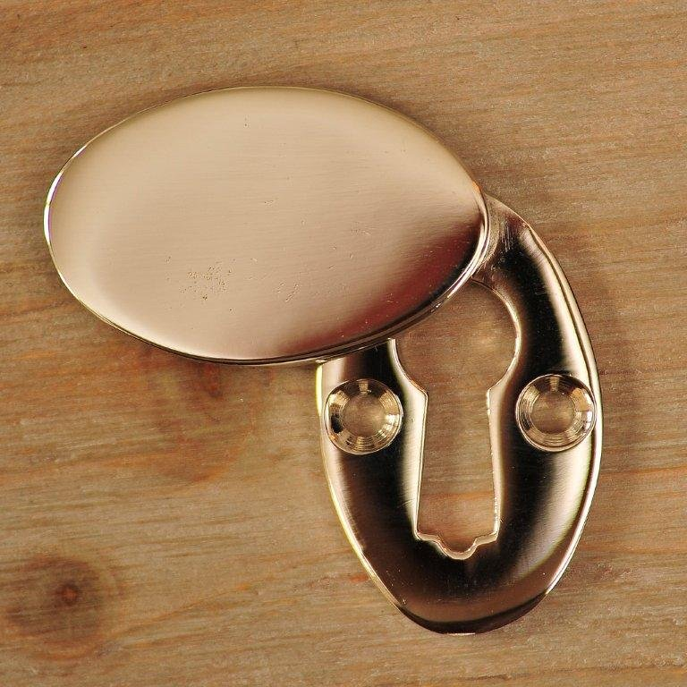 Oval Covered ' Braemar' Escutcheon - Nickel