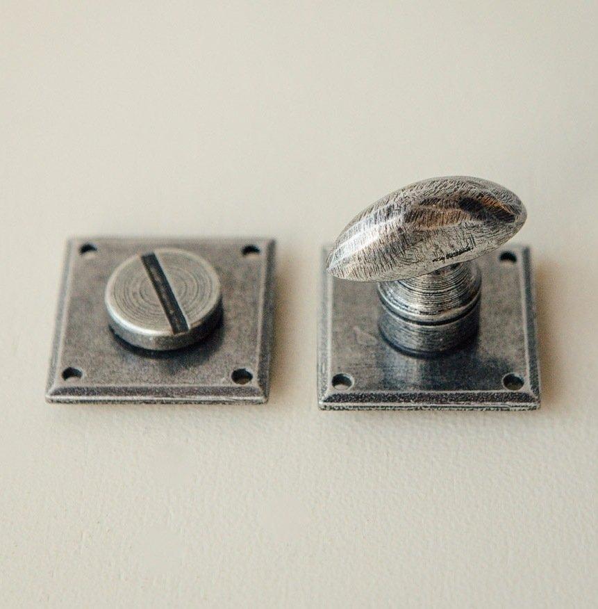 Diamond Bathroom Thumbturn/Turn & Release - Pewter