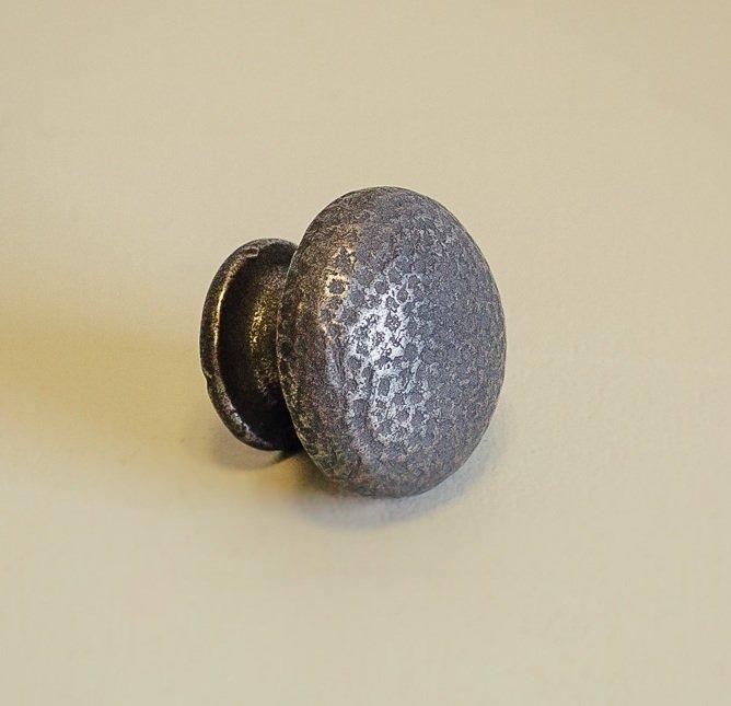 Pin Hammered Cabinet Knob - Patine