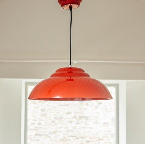 Retro Pendant Light - Red save 40%