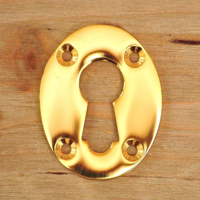 Rim Lock Escutcheon - Brass
