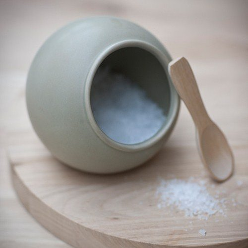 Salt Cellar and Wooden Spoon