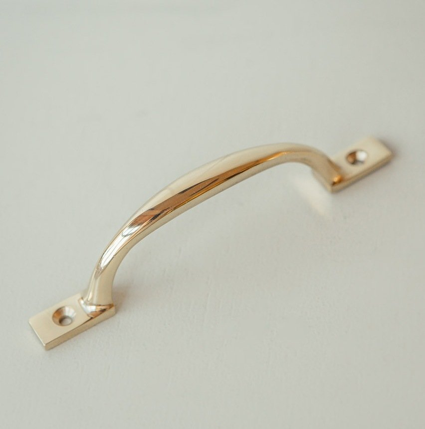 D Pull Drawer & Cupboard Handle - Brass