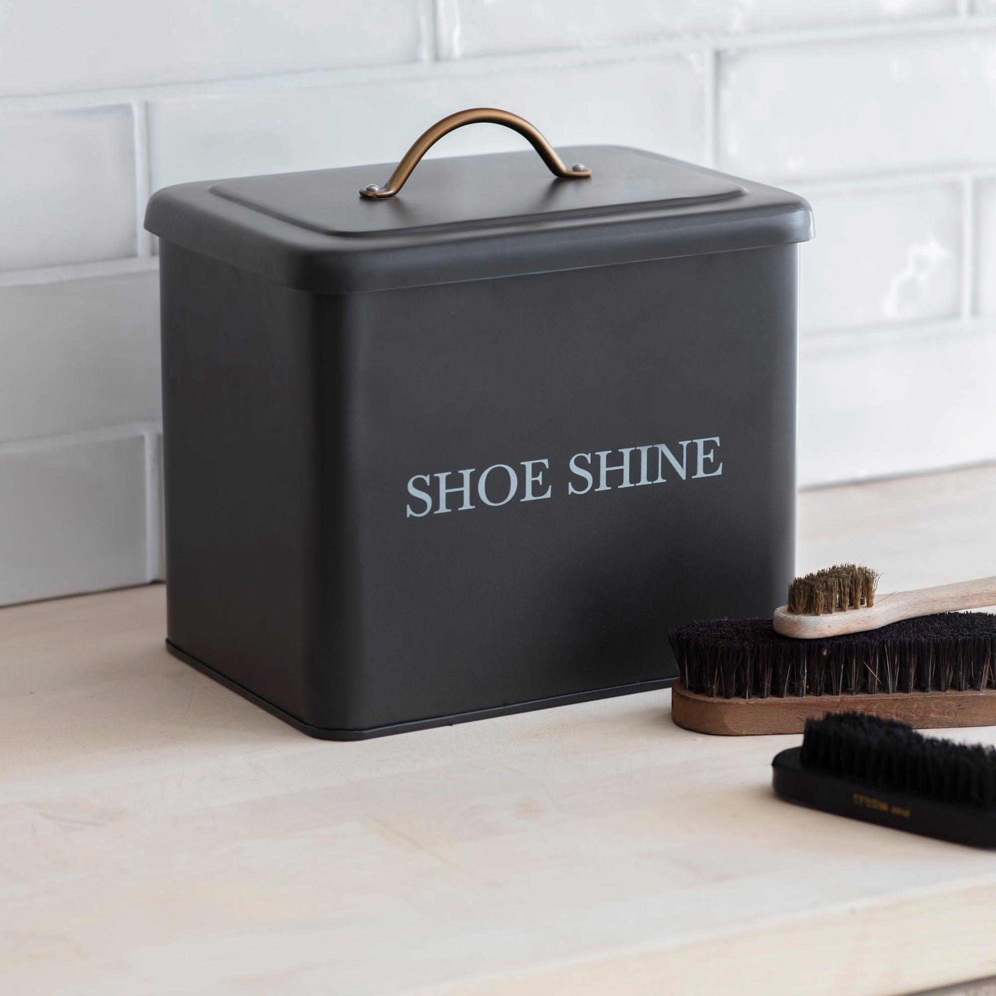 Shoe Shine Tin - Carbon