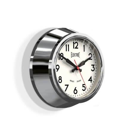 Newgate Small 50's Electric Clock - Chrome