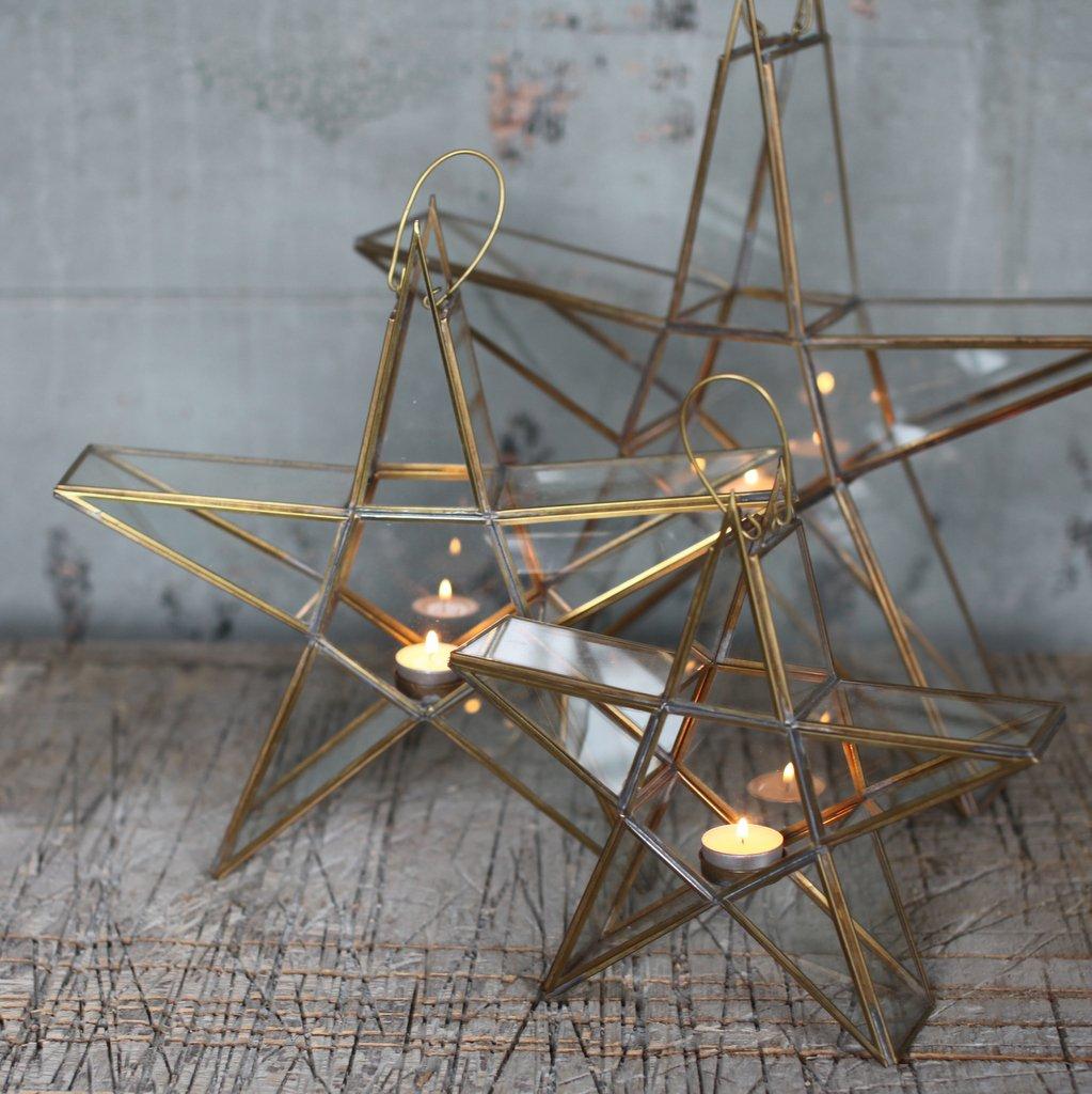Star Tealight Holder - Brass SAVE 40%