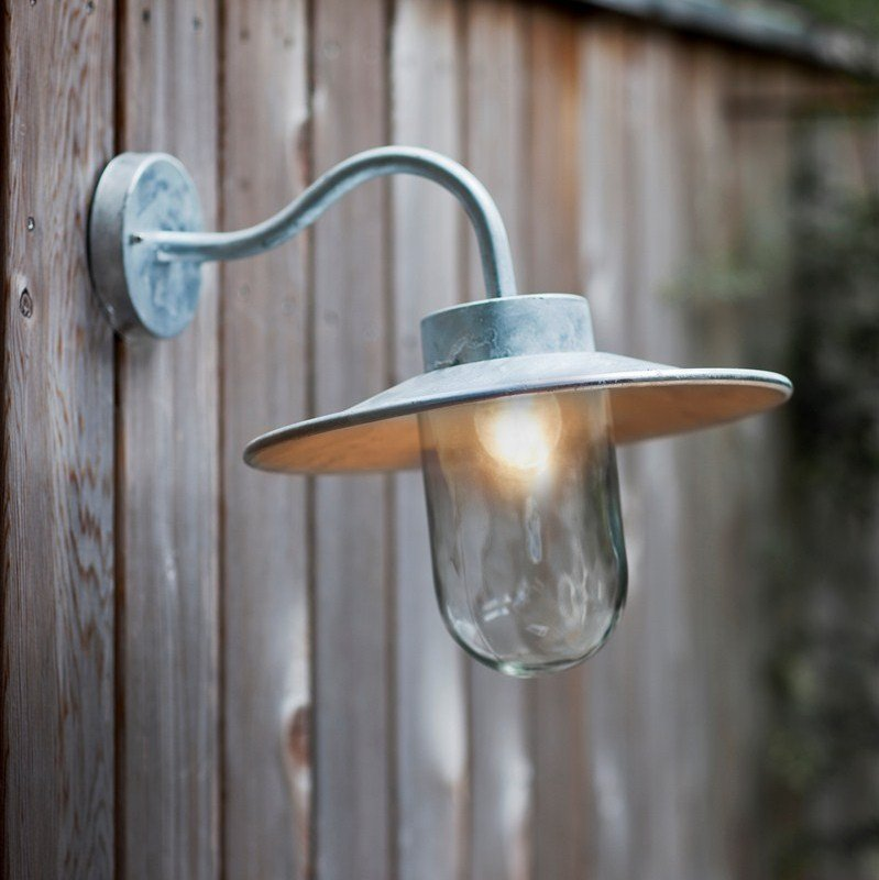 St Ives Galvanised Swan Neck  Light  - save 15%