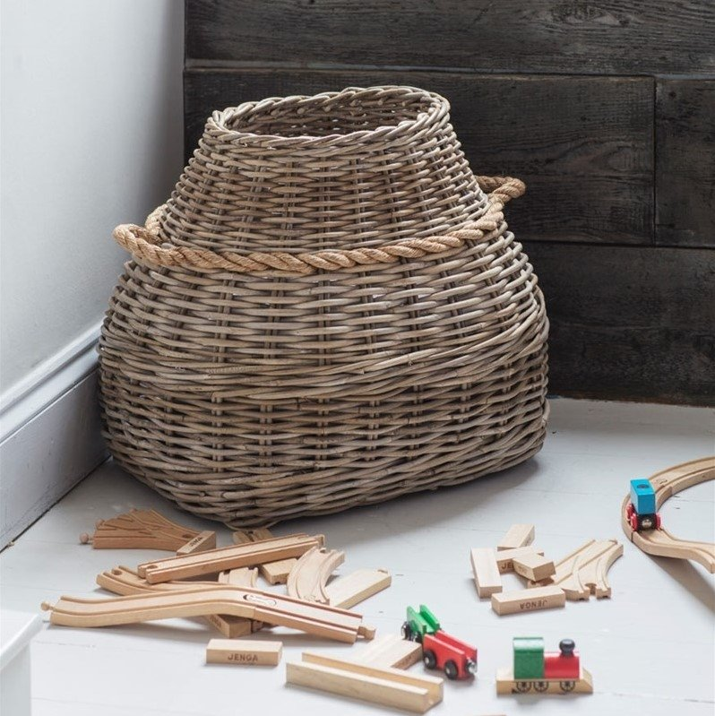 Tapered Laundry Basket - Rattan