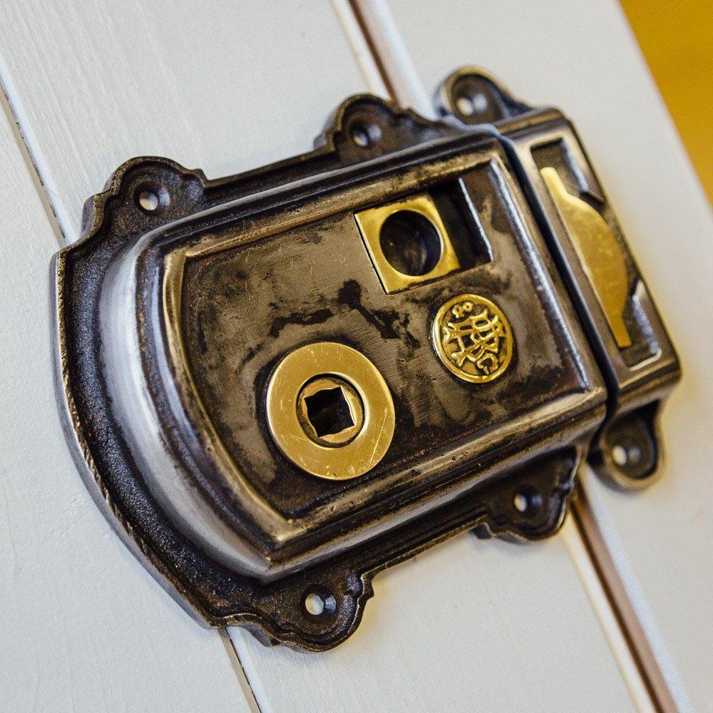 Victorian Style Rim Latch - Iron