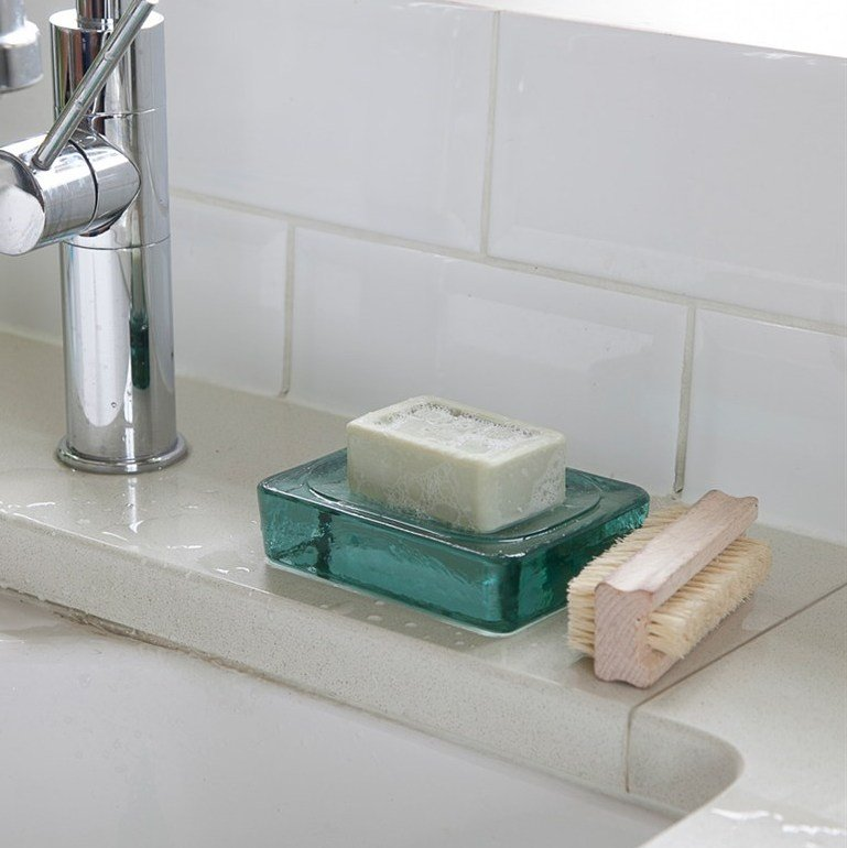 Recycled Glass Soap Dish - save 15%