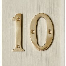 House Number '0'  - Brass