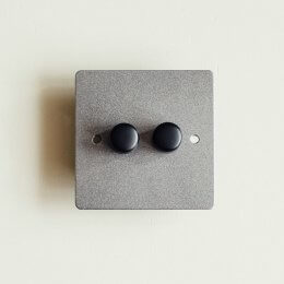 2 Gang Dimmer Switch - Patine