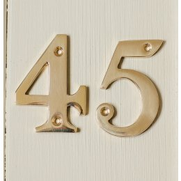House Number '4'  - Brass