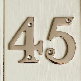 House Number '4' - Nickel