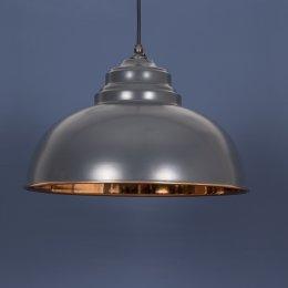 The Harborne Pendant - Charcoal Grey/Copper