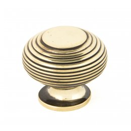 Aged Brass Beehive Cabinet Knob - Large