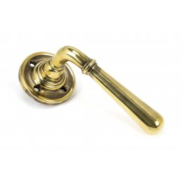 Aged Brass Newbury Lever on Rose image