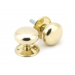 Polished Brass 57mm Mushroom Mortice/Rim Knob Set image