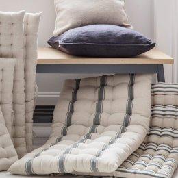 Bench Seat Pad - Charcoal Stripe