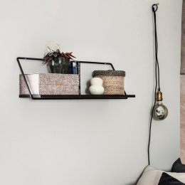 Black Metal & Wood Shelf - save 20%