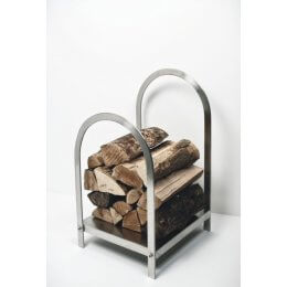 Log Holder - Brushed Steel SAVE 70%