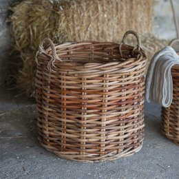 Chunky Rattan Log Baskets