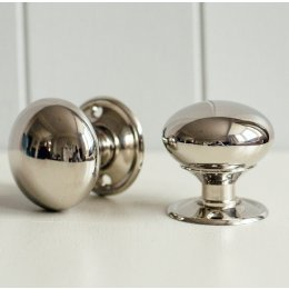 Cottage Door Knobs (Pair) - Nickel