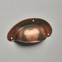 Pressed Cup Handle - Antique Copper