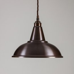 Factory Pendant Light - Antique Brass