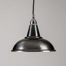 Factory Pendant Light - Antique Silver