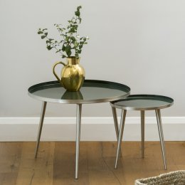 Jelva Side Table - Forest Green save 25%