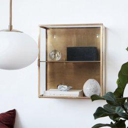 Brass Display Cabinet - Small
