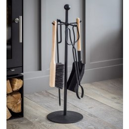 Black Steel Fireside Tool Set