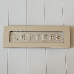 LETTERS Large Letterplate in Polished Nickel - SAVE 50%
