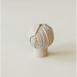Lotus Bud Cabinet Knob from Turnstyle (Box of 6) - Terracotta Blue SAVE 70%