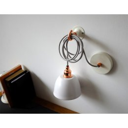 Mini Bell Pendant Light - White & Copper save 50%