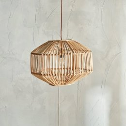 Natural Cane Pendant Light (Geo)
