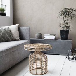 Natural Rattan Side Table - save 25%