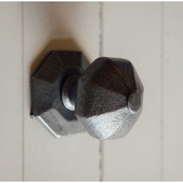 Octagonal Door Pull - Patine