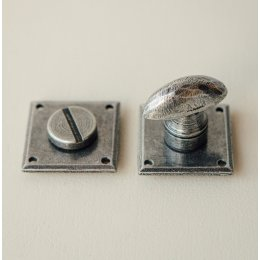 Diamond Bathroom Thumbturn/Turn & Release - Pewter