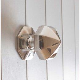 Pointed Octagonal Door Pull- Polished Nickel