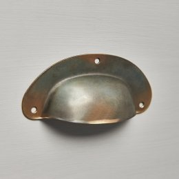 Pressed Cup Handle - Antique Brass