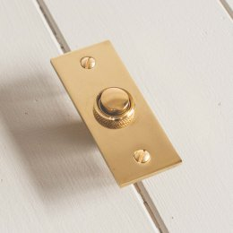 Rectangular Bell Push - Brass