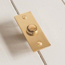 Rectangular Bell Push - Brass