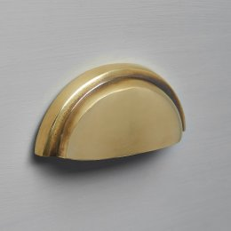 Regency Concealed Drawer Pull - Aged Brass
